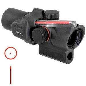 Trijicon ACOG TA44SR-10 1.5x16 Rifle Scope Illuminated Red Circle Dot Reticle 1/2 MOA with Short M16 Base Housing Aluminum Black TA44SR-10