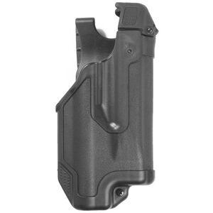 BLACKHAWK! Epoch Glock 17, 19, 22, 23, 31, 32 Level 3 Light Bearing Duty Holster Polymer Right Hand Matte Black 44E000BK-R