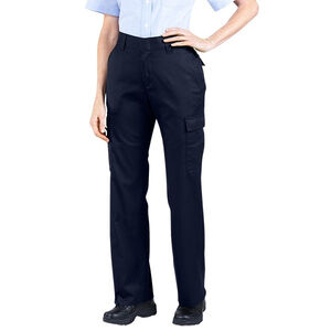 "Dickies Women's Flex Comfort Waist EMT Pants Poly/Cotton Twill Size 10 with 37"" Unhemmed Inseam Midnight Blue FP2377MD 10UU"