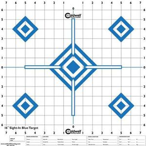 """Caldwell Shooting Supplies High Visibility Sight In Paper Target High Contrast Blue 16""""x16"""" 10 Pack 198604"""