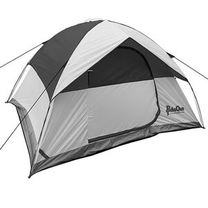 PahaQue Rendezvous 4 Person Dome Tent Gray with Black Trim