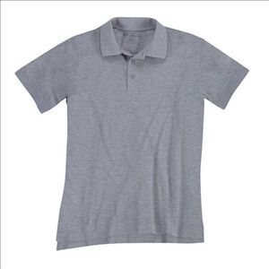 5.11 Tactical Woman's Short Sleeve Utility Polo Shirt Cotton Polyester Medium Heather Grey 61173