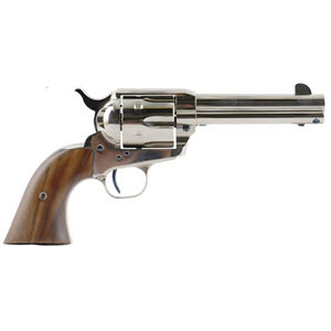 "Standard Manufacturing .45 Long Colt Single Action Revolver 4.75"" Barrel 6 Rounds Fixed Sights Two Piece Grip Nickel Finish"