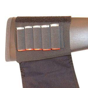 GrovTec Buttstock Cartridge Shotgun Shell Holder Elastic with Flap Nylon Black