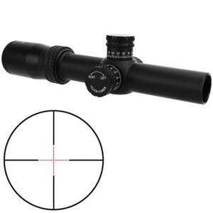 TacFire HD 1-4x30 Riflescope Red Mil Dot Reticle 30mm Tube .25 MOA per Click Fixed Parallax Matte Black Finish