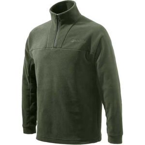 Beretta Fleece Jacket Pull Over 1/4 Zip Trident Logo Brown 2X-Large