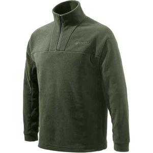 Beretta Fleece Jacket Pull Over 1/4 Zip Trident Logo Brown 2X-Large