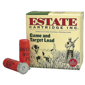 "Estate Cartridge Game and Target 20 Gauge Ammunition 2-3/4"" #7.5 Lead Shot 7/8 Ounce 1210 fps"