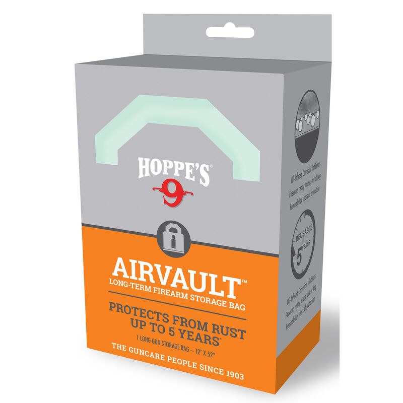 """Hoppe's AirVault Long Term Firearm Storage Bag 12""""x52"""" Rust Protection Up to 5 Years"""
