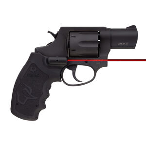 "Taurus 856 .38 Special +P Double Action Revolver 2"" Barrel 6 Rounds Viridian Red Laser Grip Fixed Sights Rubber Grips Black Finish"