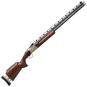 "Browning Citori 725 Trap Golden Clays 12 Gauge O/U Break Action Shotgun 32"" Ported Barrels 2-3/4"" Chambers 2 Rounds Gloss Walnut Stock Adjustable Comb Engraved Silver Receiver Polished Blued Finish"