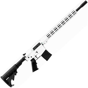 "Great Lakes .450 Bushmaster AR-15 Semi Auto Rifle 18"" Barrel 5 Rounds 15"" Free Float M-LOK Handguard Collapsible Stock White Cerakote Finish"