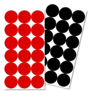 "Pro-Shot Splatter Shot 1"" Repair Paster Red and Black"