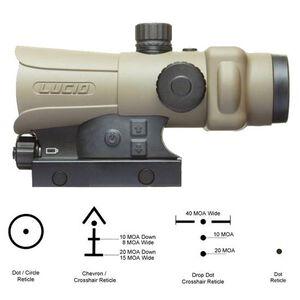 Lucid LLC HD7 Gen III Red Dot Sight 2MOA Dot Four Reticles Mount Included Aluminum Frame Flat Dark Earth Tan L-HD7-TAN