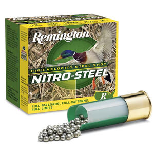 "Remington Nitro Magnum Buffered 12 Gauge Ammunition 25 Rounds 3"" Length 1-7/8 Ounce #2 Lead Shot 1210fps"