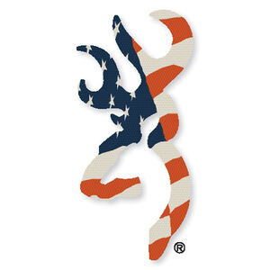 "Browning Buckmark Decal 6"" Red White and Blue"