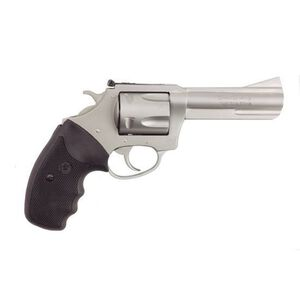 """Charter Arms Target Mag Pug Double Action Revolver .357 Magnum 4.2"""" Barrel 5 Round Cylinder Steel Frame Rubber Grip Stainless Steel Finish 73542"""