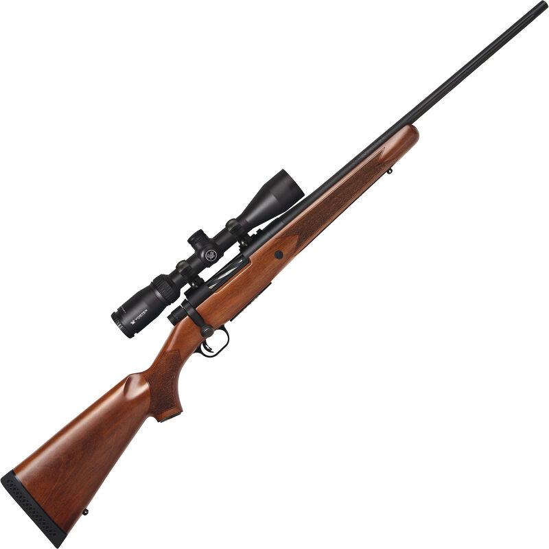"Mossberg Patriot Walnut Combo .22-250 Rem Bolt Action Rifle 22"" Fluted Barrel 5 Rounds with Vortex Crossfire II 3-9x40mm Scope Walnut Stock Matte Blued Finish"
