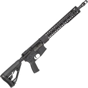 "Radical Firearms AR-15 Semi Auto Rifle .450 Bushmaster 7 Rounds 16"" HBAR Barrel 15"" Free Float MHR Handguard Collapsible Stock Black"