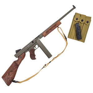 """Auto-Ordnance Thompson M1 Ranger """"1927-A1"""" WWII .45 ACP Semi Auto Rifle 16.5"""" Barrel 30/20 Rounds Blade Front Sight/Fixed Battle Rear Walnut Engraved Furniture"""