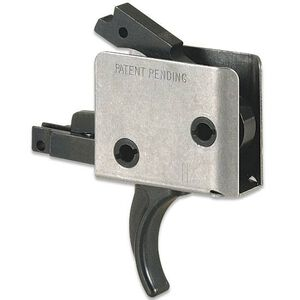 """CMC Triggers AR-15 Drop-In Single Stage Match Trigger Curved 3-3.5LB .174"""" Large Pin Colt Receiver Matte 91505"""