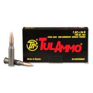 TulAmmo 7.62x54R Ammunition 20 Rounds FMJ 148 Grains TA762548