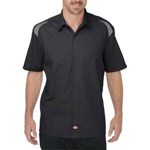 Dickies Men's Short Sleeve Performance Shop Shirt Medium Tall Black/Smoke