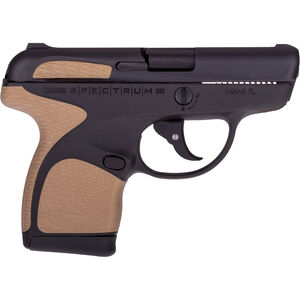 "Taurus Spectrum .380 ACP Semi Auto Pistol 2.8"" Barrel 6 Rounds Black Polymer Frame with Bronze Inserts Black Finish"