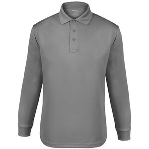 Elbeco UFX Tactical Polo Men's Long Sleeve Polo Small 100% Polyester Swiss Pique Knit Gray