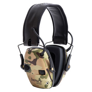 Howard Leight Impact Sport Folding Electronic Earmuff 22db Noise Reduction Rating AAA Batteries Multicam