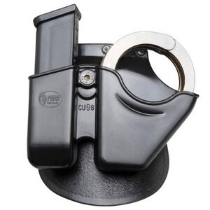 Fobus Handcuff/Magazine Combo Pouch S&W M&P 9mm Luger/.357 SIG/.40 S&W OWB Paddle Holster Polymer Black CU9GMPBH