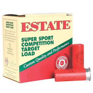 "Estate Cartridge Super Sport Competition Target Load 12 Gauge Ammunition 2-3/4"" #9 Lead 1 Ounce 1180 fps"