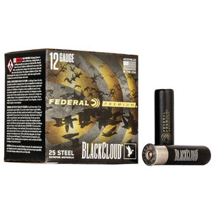 "Federal Black Cloud FS Steel 12 Gauge Ammunition 3-1/2"" BBB 1-1/2 Oz Steel Shot 1500 fps"