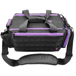 "UTG All-in-1 Range/Utility Go Bag, 21""x9""x8"",Black/Violet"