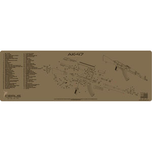 """Cerus Gear AK-47 Schematic ProMat Rifle Size 12""""x36"""" Synthetic Coyote Tan"""