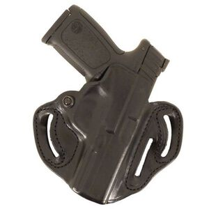 "DeSantis 002 Speed Scabbard Belt Holster Taurus Judge 3"" Cylinder 2.5"" and 3"" Right Hand Leather Black 002BAP5Z0"