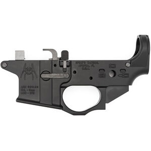 Spikes Tactical AR-15 9mm Colt Style Magazine Well Forged Lower Receiver Spike's Spider Logo Non-Color Filled Aluminum Black STLS910