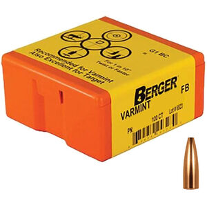 "Berger Bullets .20 Cal .204"" 35gr HPFB Varmint Rifle Projectiles 100 Count"