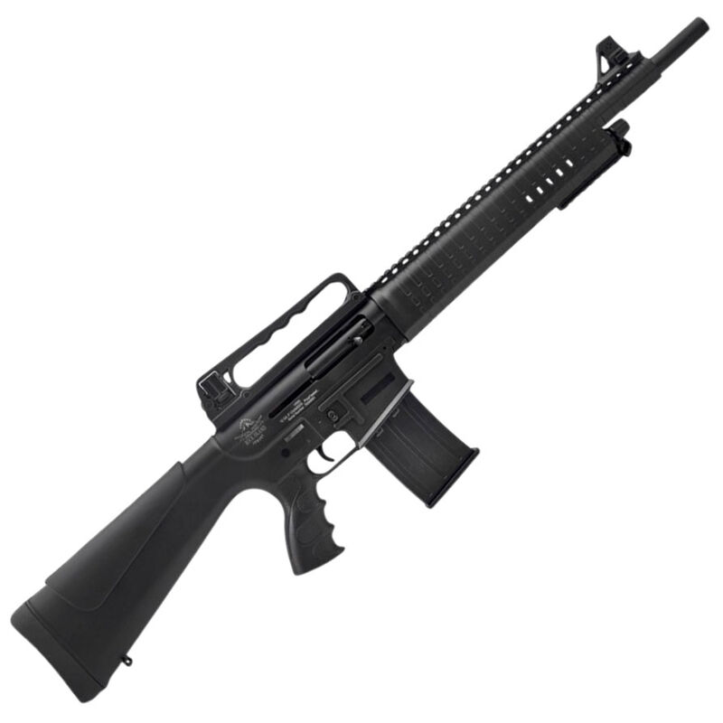 "Rock Island Armory VR60 AR Style Semi-Auto Shotgun 12 Gauge 3"" Chamber 20"" Barrel 5 Rounds Gas Operated Aluminum Upper Receiver Polymer Furniture Black"