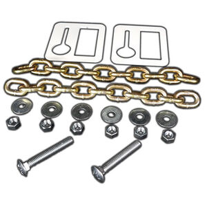 AR-Mor Chain Hanging Set Two 12 Link Chains/Two Brackets Zinc Plated Natural Finish
