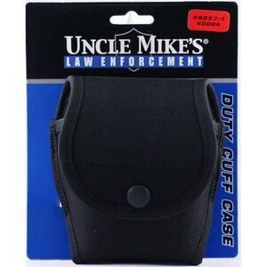 Uncle Mike's Double Cuff Case with Flap Cordura Nylon Black 88571