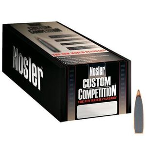 "Nolser .22 Caliber .224"" Diameter 80 Grain Hollow Point Boat Tail Custom Competition Rifle Bullets 100 Count 25116"