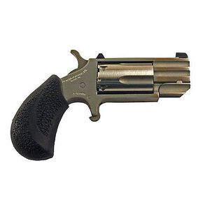 """North American Arms PUG Revolver .22WMR 1"""" Barrel 5 Round Rubber Grip Stainless"""