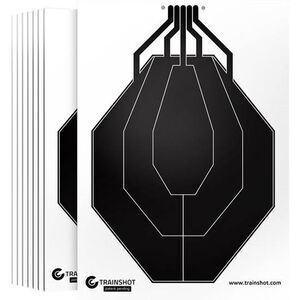 "TRAINSHOT IPSC Targets Package of 10 18x24""     TSUSA-0211"