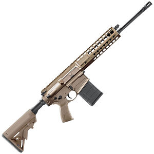 """SIG Sauer SIG716G2 Patrol AR-308 Semi Auto Rifle .308 Winchester 16"""" Barrel 20 Rounds Free Float KeyMod Hand Guard 6 Position Collapsible Stock Flat Dark Earth Finish"""