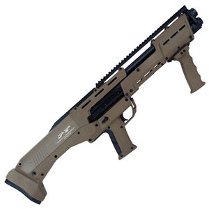 "Standard Manufacturing DP-12 12 Gauge Double Barrel Pump Action Shotgun, 18 7/8"" Barrels, 16 Rounds, FDE"