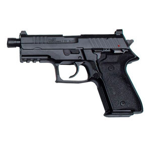 "AREX Rex Zero 1TC Compact Tactical 9mm Luger Semi Auto Pistol 4.9"" Barrel Length 17 Rounds Fixed Sights Picatinny Rail Ambidextrous Safety/Magazine Release Matte Black"