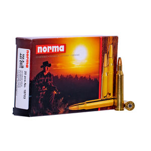 Norma USA .220 Swift Ammunition 20 Rounds 55 Grain Oryx 3773fps