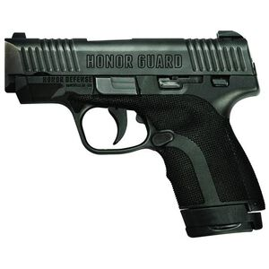 """Honor Guard Sub-Compact 9mm Luger Semi Auto Pistol 3.2"""" Barrel 7 Rounds Manual Safety Polymer Black"""