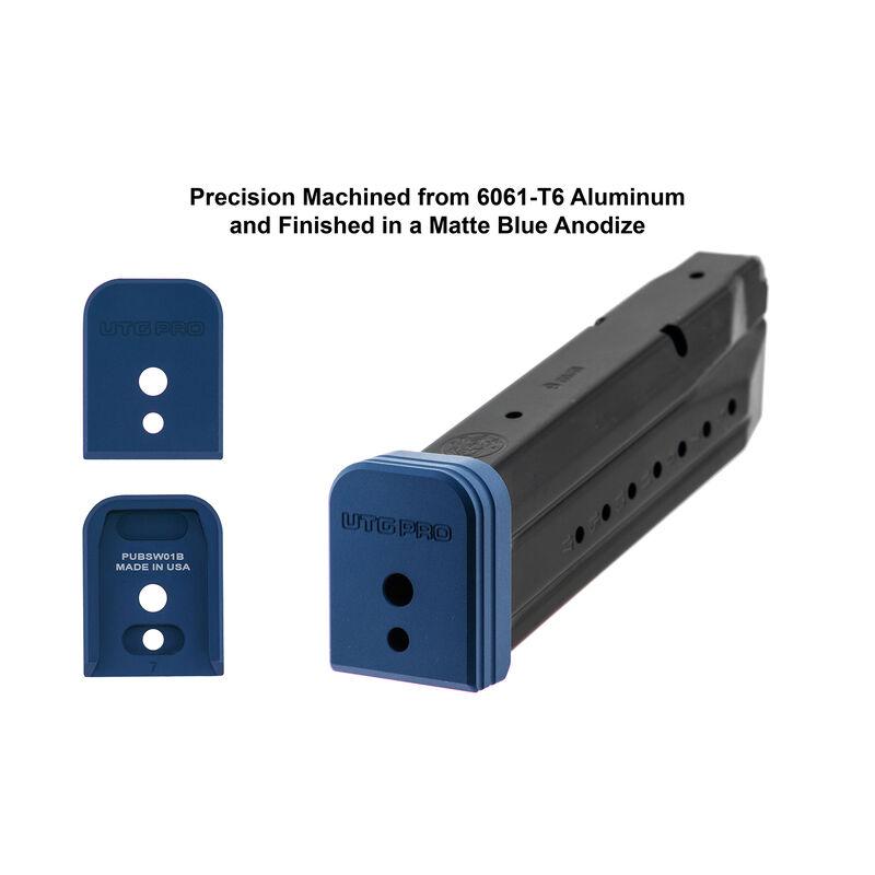 UTG PRO +0 Base Pad, S&W M&P 9/40, Matte Blue Aluminum